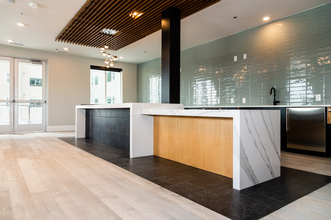 Canvas- Clubhouse Kitchen and Center Island